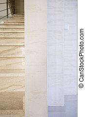 楼梯, 在中, 现代, 内部