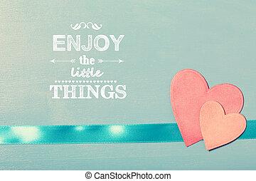 楽しみなさい, ∥, わずかしか, もの, テキスト, ∥で∥, ピンクのペーパー, 心