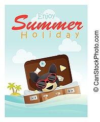 楽しみなさい, トロピカル, 夏季休暇, ∥で∥, わずかしか, 犬