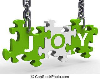 楽しみなさい, 喜び, 困惑, 朗らかである, 楽しみ, うれしい, ショー
