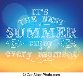 楽しみなさい, 夏, ポスター