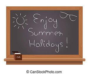 楽しみなさい, 夏, scho, 休日, テキスト