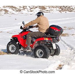 楽しみ, クォード, 雪