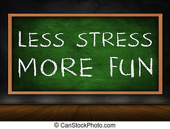 楽しみ, ストレス, さらに少なく, -, もっと