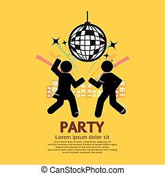 楽しみ, パーティー。, 持つこと, 人々