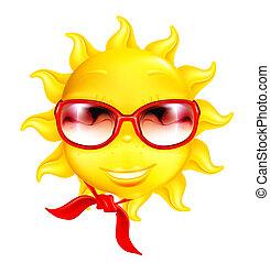 楽しみ, ベクトル, 太陽