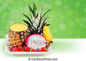 楽しみ, 熱帯 フルーツ, 混合
