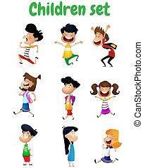 楽しみ, children., セット, 漫画