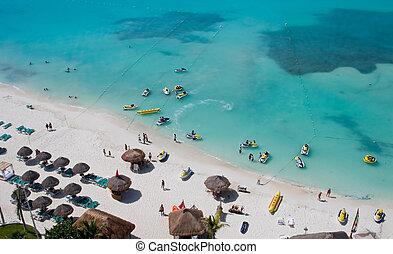 楽しむ, 浜, 人々