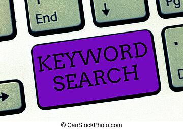 概念性, 手文字, 顯示, 關鍵詞, search., 事務, 相片, 正文, 使用, 詞, 或者, 期限, 為了看, 正確, 主題, 相關, 到, 它