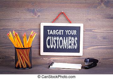 概念, あなたの, ターゲット, ビジネス, 顧客