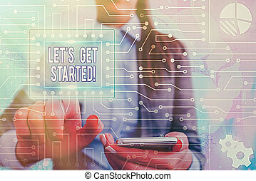 概念, そうさせられた, 執筆, 意味, 始めなさい, テキスト, 手書き, 誰か, 得なさい, something., 励ますこと, started.