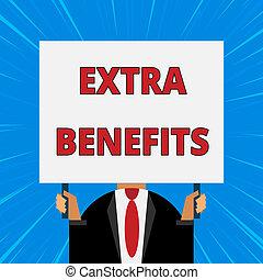概念, ただ, 余分, テキスト, subsidies, ブランク, allowances, 付加的, いいえ, 服を着せられる, 執筆, 胸, 保有物, スーツ, タイ, rectangle., ボーナス, 大きい, 刺激, 暗い, 意味, 人, benefits., 顔, 補償, 手書き
