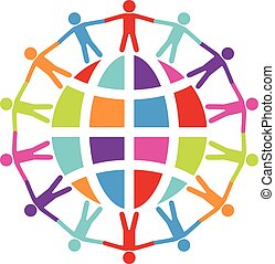 概念, のまわり, 人々, 旅行, 平和, ベクトル, ∥あるいは∥, 世界