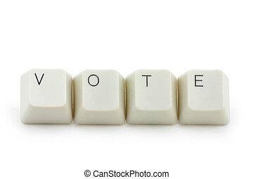 概念, の, オンラインで, 投票