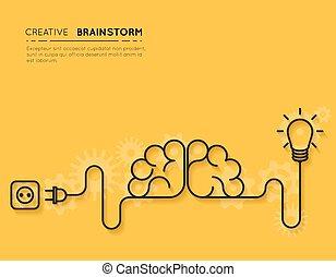 概念, ひらめき, 創造的