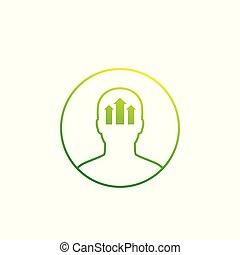 概念, アイコン, 個人的な成長