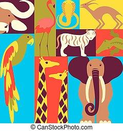 概念, アフリカ, イラスト