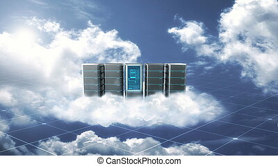 概念, インターネット, 雲, サーバー