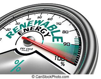 概念, エネルギー, 回復可能, メートル