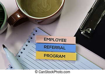 概念, オフィス, テキスト, メモ, 付せん, プログラム, 机, 従業員, 紹介
