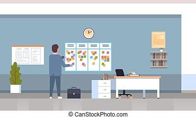 概念, オフィス, 付せん, 計画, スケジューリング, 毎週, 板, タイムテーブル, ミーティング, でき事, 平ら, 彼の, ビジネス, スケジュール, 内部, ニュース, 横, 仕事, フルである, メモ, 仕事, 長さ, 議題, ビジネスマン