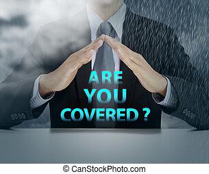 概念, カバーされた, あなた, 保険
