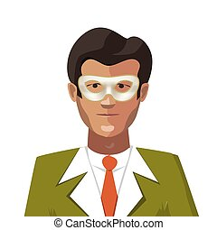 概念, カーニバルマスク, 匿名, 白, 人