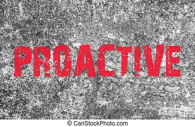 概念, グランジ, テキスト, 手ざわり, 背景, proactive