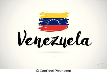概念, グランジ, 国, 旗, デザイン, ロゴ, ベネズエラ, アイコン