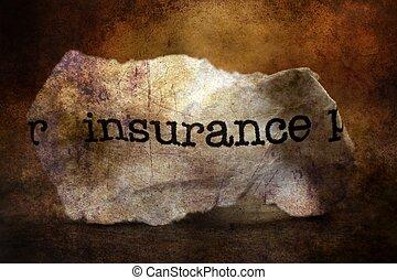 概念, グランジ, 屑, 保険