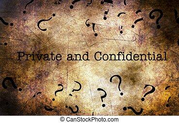 概念, グランジ, 私用, 機密