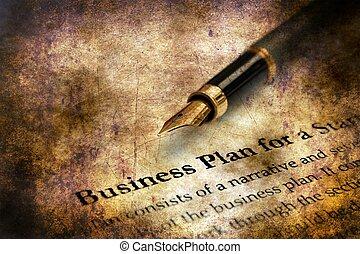 概念, グランジ, 計画, ビジネス