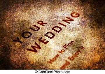 概念, グランジ, 計画, 結婚式