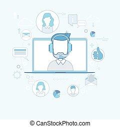 概念, グループ, ビジネス 人々, テクニカルサポート, チーム, チャット, オンラインで