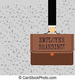 概念, グループ, ブリーフケース, カラフルである, テキスト, 会社, ビジネスマンの執筆, ビジネス, 切望された, 届く, 促進, 選択, applique., ターゲット, 手, ポートフォリオ, 単語, 雇用者, branding., ステッチ