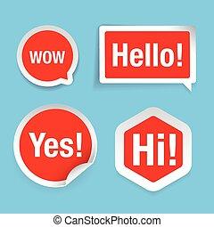 概念, コミュニケーション, 話, 泡, スピーチ