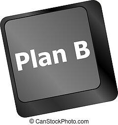 概念, コンピュータ, ビジネス, -, b, 計画, キー, キーボード