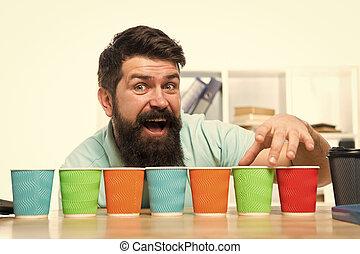 概念, コーヒー, one., 1(人・つ), ペーパー, 選択, 行きなさい, 選択肢, カップ, recycling., alternatives., cup., につき, day., いかに, 選びなさい, たくさん, あごひげを生やしている, 多様性, cups., カラフルである, eco, 人, 多数, 一突き
