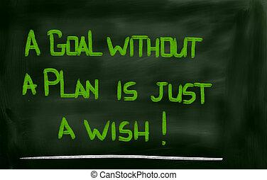 概念, ゴール, ただ, 願い, なしで, 計画
