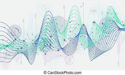 概念, サイエンスフィクション, データ, hi-tech, 背景, 統計量, 表示器, 革新, スケジュール, 分析的