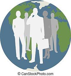 概念, シンボル, グローバルなビジネス