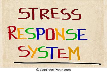 概念, ストレス, 応答, システム