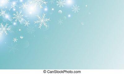 概念, スペース, 雪, イラスト, クリスマス, ベクトル, デザイン, 背景, 白, コピー, 雪片