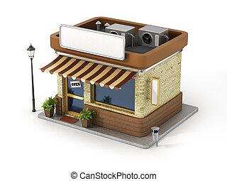 概念, スペース, shop., board., コピー, 店
