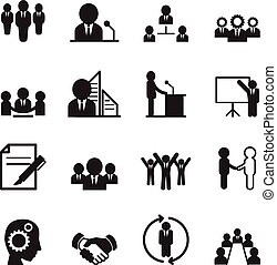 概念, セット, 考え, ビジネス アイコン