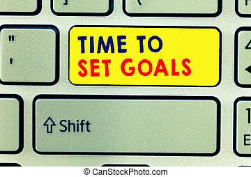 概念, セット, goals., テキスト, 執筆, 切望された, 意味, 未来, 達成しなさい, 時間, 目的, 手書き, 望まれる