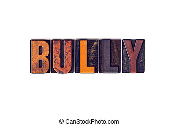 概念, タイプ, bully, 凸版印刷, 隔離された