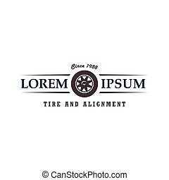 概念, タイヤ, 自動車, デザイン, テンプレート, ロゴ