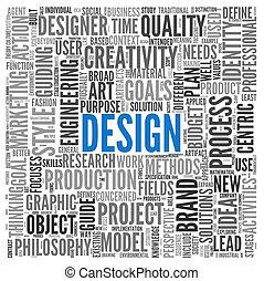 概念, タグ, デザイン, 雲